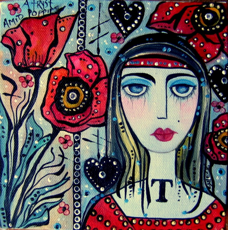 A Tryst Amid Poppies