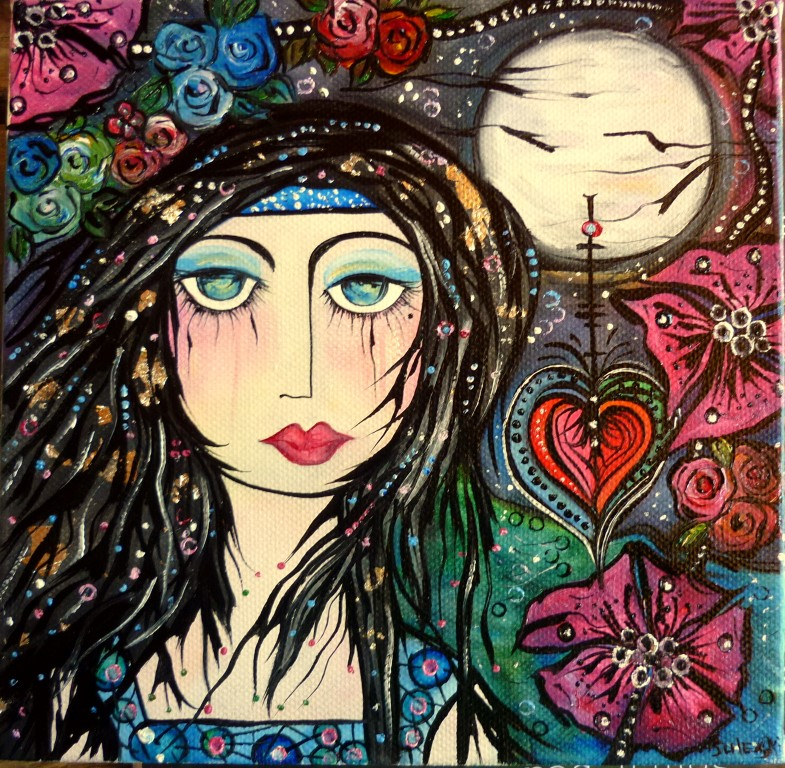 Sacred is She Under Moon and Stars