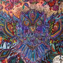 O Blessed Owl, Silent Flyer Through My Dark Skies  (Detail 1 of 3)