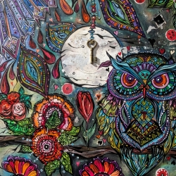 O Blessed Owl, Silent Flyer Through My Dark Skies  (Detail 2 of 3)