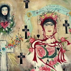 After Frida (on death, the angel, and watermelons)